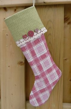 Classic  Stocking  Christmas Stocking  Red  Stocking  by GabryRoad, $25.00