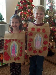 kids: Our Lady of Guadalupe tilma