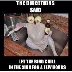 The Directions Said, Let The Bird Chill In The Sink For A Few Hours