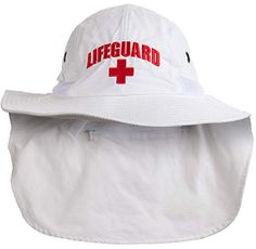86fb48e8 Lifeguard Hat w/Neck Cape | UV Sun Protection 45+ Bucket Hat Uniform Men