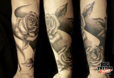 Half Sleeve Tattoo Drawings for women | Rose Tattoos Half Sleeves Pic #20