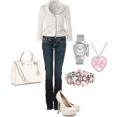 Love a gorgeous jacket with jeans and heels