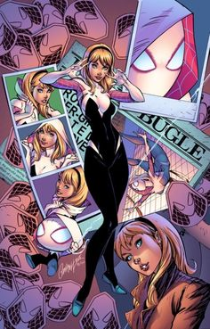 Spider-Gwen #1 variant cover by J. Scott Campbell