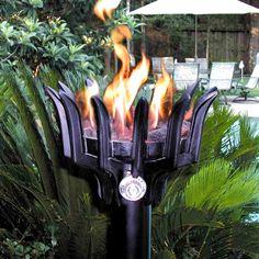 Malumai Gas Tiki Torch Woodlanddirect Outdoor Fire Pits Fireplaces