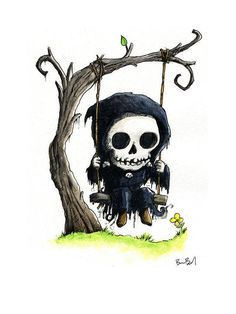 Your place to buy and sell all things handmade Grim Reaper Art, Grim Reaper Tattoo, Grim Reaper Drawings, Halloween Wall Decor, Halloween Art, Dark Art Drawings, Art Drawings Sketches, Familie Symbol, Ange Demon