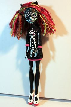 SKELLY NOIR Monster High Catty Noir OOAK Sugar by Refabrications