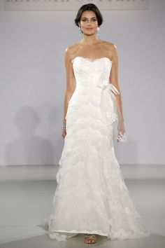Maggie Sottero - Bridal Fall 2013    TAGS:Fishtail, Floor-length, Ruched, Strapless, White, Maggie Sottero, Tulle, Glamour