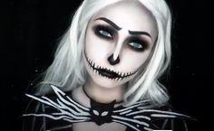 Halloween 2017, Halloween Cosplay, Halloween Make Up, Halloween Costumes, Halloween Face Makeup, Black And Red Makeup, Nightmare Before Christmas Halloween, Aesthetic Desktop Wallpaper, Jack Skellington