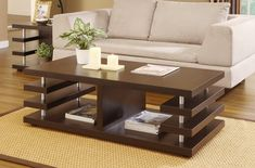 Enitial Lab Dean Modern Coffee Table In Cuccino Finish