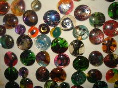 stacy's cabochons....hopefully I am learning and the next batchwill be better...I want real cabochons these are aquarium pebble