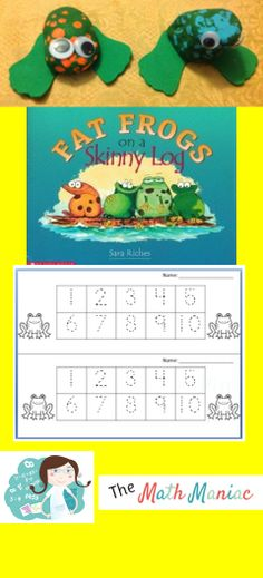 Here is a great math literature book and a few fun, easy frog activities!