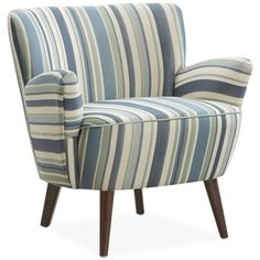 Colmar Striped Fabric Accent Chair ($429) ❤ Liked On Polyvore Featuring  Home, Furniture