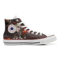 Converse All Star personalisierte Schuhe (Handwerk Produkt) Woman Warrior - http://on-line-kaufen.de/make-your-shoes/converse-all-star-personalisierte-schuhe-woman