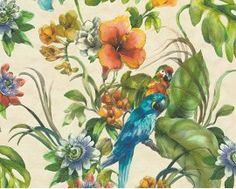 Tapeta 30015-1 Kolorowe Papugi