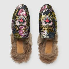 Gucci Women - Princetown floral jacquard slipper - 432754K16C01875