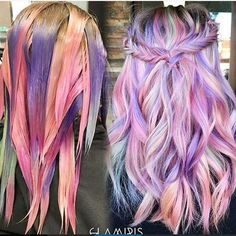 ***Not my work*** I'm feeling the creative juices flowing, guys! ❤️ Really want to do some multi-colored vivids. For anyone who books a vivid this week, I'll offer complimentary cuts/conditioning treatments (not including Olaplex!) DM for scheduling/inquiries or call (714)870-0367 during operating hours. See you guys soon! Xoxo