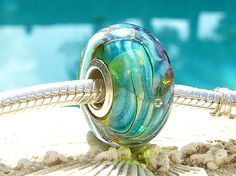 MAHI MAHI OPAL Fully Lined Sterling Silver Big by beachlifebeads, $20.00