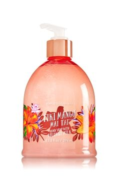 Tiki Mango Mai Tai - Hand Soap with Coconut Milk - Bath & Body Works - Moisturizing Shea Butter & Coconut Milk gently wash away dirt while keeping hands feeling soft and conditioned.