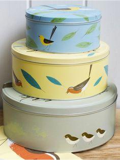 Cubic Birdy Cake Tins