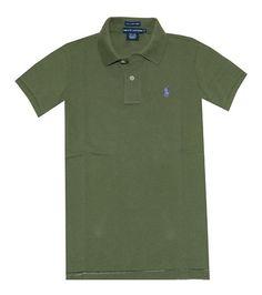 $29.99 - Ralph Lauren Women's The Skinny Polo Pony Logo T-shirt Army Olive #ralphlauren