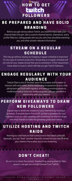 116 Best TWITCH FOLLOWERS images in 2018 | Twitch channel