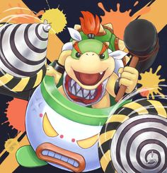 Bowser Jr - Super Smash Bros, pixiv Mundo Super Mario, Super Mario Games, Super Mario Art, Nintendo Game, Nintendo World, Nintendo Characters, Donkey Kong, Super Smash Bros, King Koopa