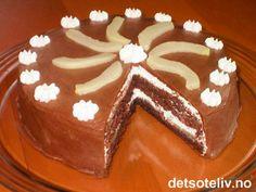 Sjokoladekake med pærer | Det søte liv