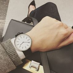 Uniform Wares M37 in Polished Steel - worn beautifully by @phebechen