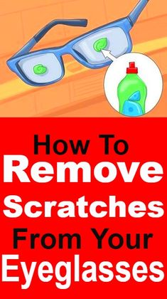 Easy Ways To Remove Scratches From Your Eyeglasses #lifehacks #cleaningtips #hacks #cleaning