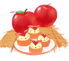 Birdie Apples - © pixiv member ID: 1096811 http://chai.wa-sanbon.com/top.html Artist @ twitter: drawingchisanne