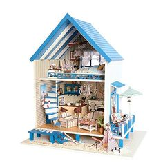 Architecture/diy House/mininatures Model Building Dependable New Girl Diy 3d Wooden Mini Dollhouse Doll House Furniture Blocks Educational Aegean Sea Toys Furniture For Kids Christmas Gifts To Have A Long Historical Standing