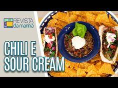 Acesse o novo site da TV Gazeta! Além de conteúdos exclusivos, você pode conferir nossa programação 24 horas ao vivo. Chili Mexicano, Sour Cream, Comida Latina, Vivo, Tacos, Ethnic Recipes, Food, Recipes, Mexican Meals