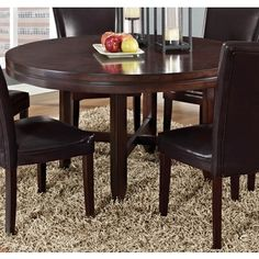 Greyson Living Hampton Dark Brown Cherry 52-inch Round Dining Table | Overstock.com Shopping - The Best Deals on Dining Tables