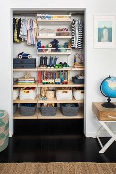 Shared boys closet with Container Store | Kids room decor | 100 Layer Cakelet