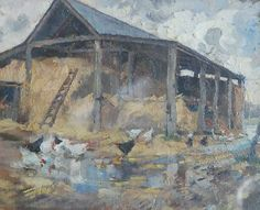 The Barn - Wet Day Horace Hurtle Trenerry