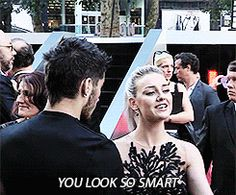 Perrie saying you look so smart to Louis!gif  Omg! She's so sweet!!