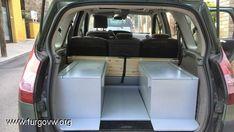 Full bed *and* back seats Monospace, Back Seat, Camper Van, Motorhome, Car Seats, Full Bed, Tiny Houses, Hobbies, Vans