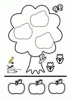 Cut and paste worksheets, activities 3 Year Old Preschool, 3 Year Old Activities, Preschool Colors, Craft Activities For Kids, Kindergarten Math Worksheets, Preschool Printables, Worksheets For Kids, Letter A Coloring Pages, Cut And Paste Worksheets