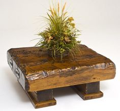 I adore tables made from reclaimed wood!