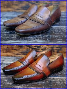 Alexander Nurulaev from Dandy Shoe Care did it again. He took one of my favorite, yet worn YSL loafers and made them a work of art. Thank you fine sir, your art is a true honor to represent in my wardrobe.