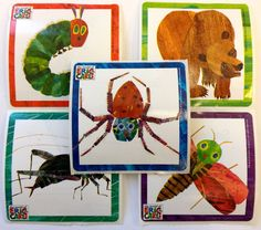 15 Eric Carle Stickers Party Favors Teacher Supply Hungry Caterpillar Brown Bear