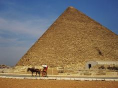A pyramid at Giza, virtually deserted by tourists and vendors.