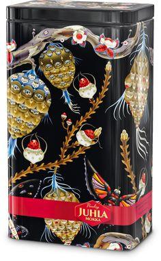 Juhla Mokka Design Tin 2008 by Klaus Haapaniemi Finland How To Make Coffee, Making Coffee, Nordic Christmas, Mocca, Tin Boxes, Nordic Design, Textile Patterns, Wall Wallpaper, Hand Crochet