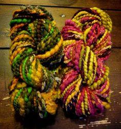 Hand-dyed and hand spun yarn duo