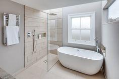 Scandinavian Bathroom by JLB Property Developments