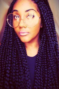 cute colorful hairstyles tumblr -box braids
