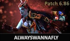 Dota 2 ALWAYSWANNAFLY plays QOP Vs Singsing and the gank Ranked Match