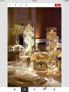 Elegant white flower arrangements!
