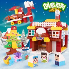 "The creative series #buildingblocks #toys--""The Careless Deer"". The Christmas was coming. Santa Claus and the deer had prepared all the gifts to the kids. However, the deer was so careless that Santa Claus got very angry. What happened?"