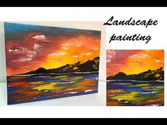 How to paint landscape Abstract Landscape Painting, Acrylic Painting Canvas, Landscape Paintings, Abstract Flowers, Flower Pictures, Painting Tutorials, Drawings, Artwork, Youtube